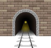 spoorwegtunnel vectorillustratie