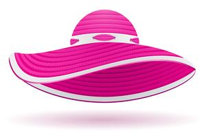 strand hoed vector illustratie