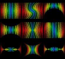 stel abstracte veelkleurige grafische equalizer vectorillustratie