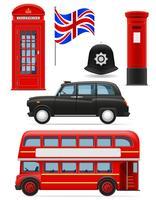 Londen vastgestelde pictogrammen vector illustratie