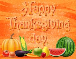 tekst happy thanksgiving day vector illustratie