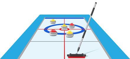 curling sport spel vectorillustratie