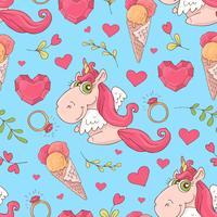 Valentine's Day naadloze patronen. Set van liefde en romantische achtergronden vector