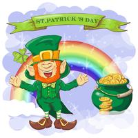 Vector Happy Saint Patrick s wensdagkaart