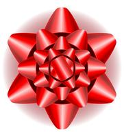 boog voor cadeau vectorillustratie vector