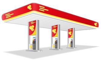 auto benzinestation vectorillustratie