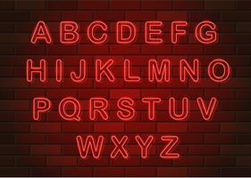 gloeiende neon letters Engelse alfabet vectorillustratie vector