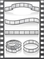 stel filmstripe-iconen in vector