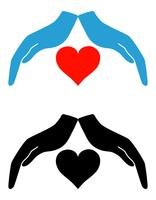 concept van bescherming en liefde vector illustratie