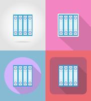 speel tuin voor curling sport spel plat pictogrammen vector illustratie