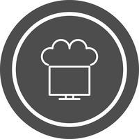 Verbonden met Cloud Icon Design