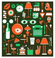 Een set huishoudelijke artikelen vector