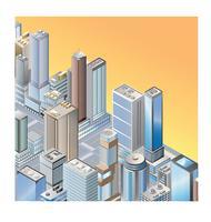 Skyline van de stad vector