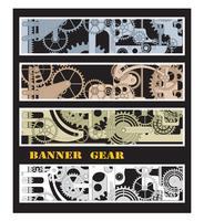Banners met versnellingen vector