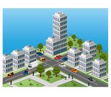 Een fragment van de stad vector