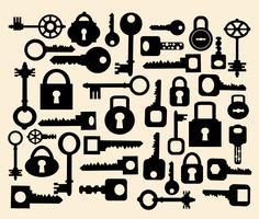 Sleutels en sloten vector