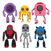 robots vector collectieontwerp