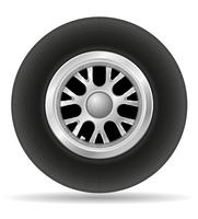 wiel voor raceauto vectorillustratie EPS 10