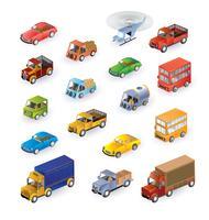 Isometrische voertuigen vector