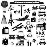 Verschillende silhouetten op een thema
