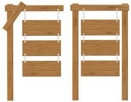houten planken tekenen vector illustratie