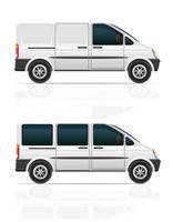 bestelwagen voor het vervoer van vracht en passagiers vectorillustratie
