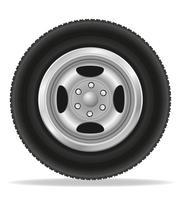 wiel voor auto vectorillustratie vector