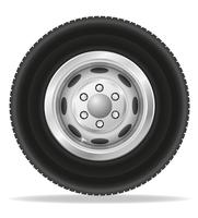 wiel voor vrachtwagen tracktor en bestelwagen vectorillustratie vector