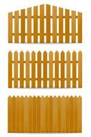 houten hek vectorillustratie