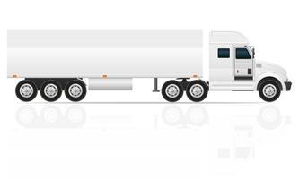 grote vrachtwagen trekker voor transport vracht vectorillustratie