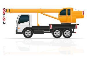 vrachtwagen kraan voor bouw vectorillustratie