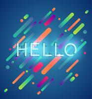 Neongewoord op kleurrijke achtergrond, vectorillustratie vector