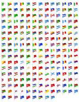 stel pictogrammen vlaggen van de wereld landen vectorillustratie vector