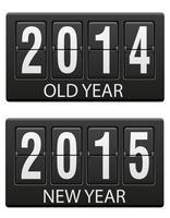 mechanische scorebord oud en het nieuwe jaar vector illustratie