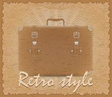 retro stijl poster oude koffer vectorillustratie