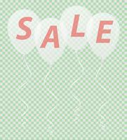 transparante witte ballonnen met de inscriptie verkoop vectorillustratie
