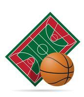 basketbalveld vectorillustratie
