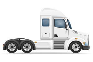 semi vrachtwagen aanhangwagen vectorillustratie