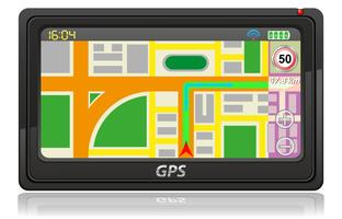 gps navigator vector illustratie