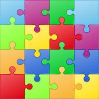vierkante puzzel vectorillustratie