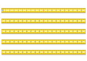meetlint voor hulpmiddel roulette vectorillustratie EPS 10 vector