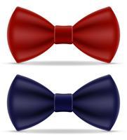 rode en blauwe strikje voor mannen een pak vectorillustratie