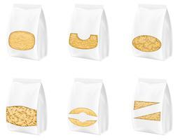 pasta in verpakking vectorillustratie