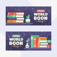 Illustratie van een stapel boeken met een appel en een mini-wereldbol op sterrennacht achtergrond. Vlakke stijl illustratie vector
