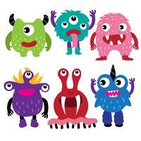 monster karakter collectie ontwerp vector
