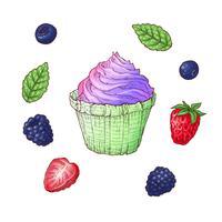 Set van ijsje kegel vectorillustratie vector