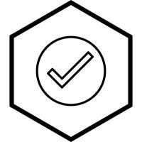 Geldig pictogramontwerp vector