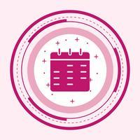 Kalender pictogram ontwerp vector