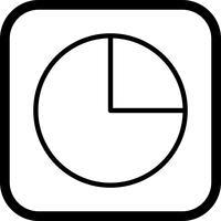 Cirkeldiagram pictogram ontwerp vector