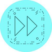 naar voren pijlen pictogram ontwerp vector